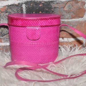 MUNDI Genuine Snakeskin HOT PINK Mini BAG!